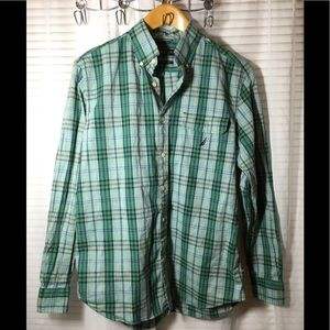 Nautica Classic fit Men's Plaid Shirt Size Medium